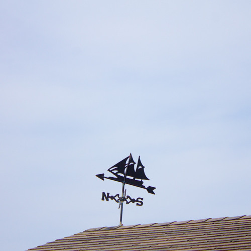 A nautical weathervane on Nantucket