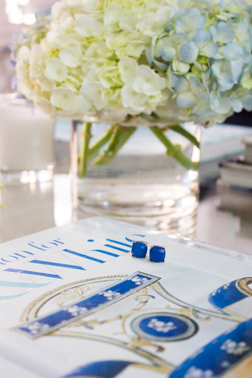 Cobalt blue studs from Charming Charlie