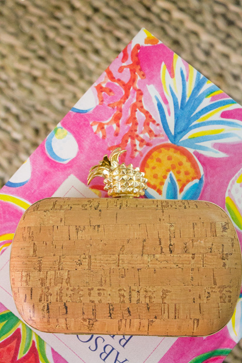 Design Darling styles a pineapple clutch from Charming Charlie