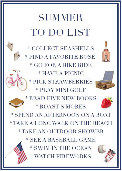Design Darling's summer to do list for summer 2016