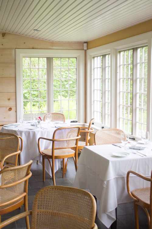 Inside The Chanticleer restaurant in 'Sconset on Nantucket