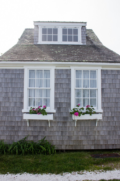 Nantucket window boxes in 'Sconset