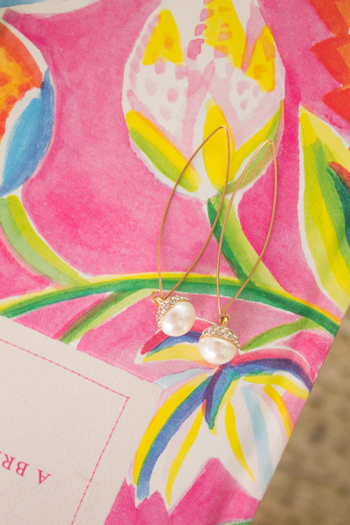 Pearl drop earrings from Charming Charlie