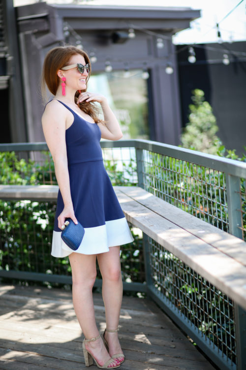 design darling navy and white dress from nordstrom