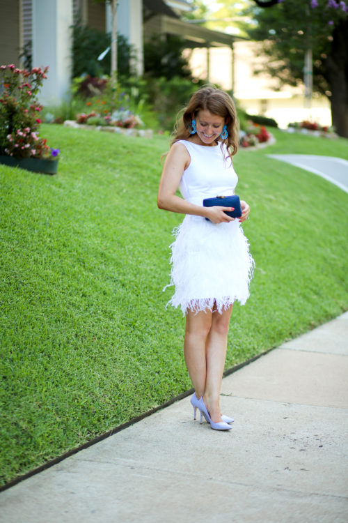 sail to sable white feather dress for wedding reception