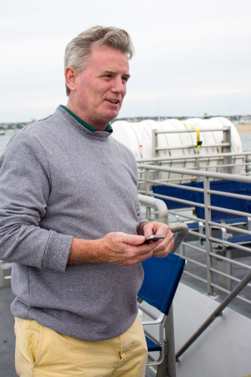 dad on ferry