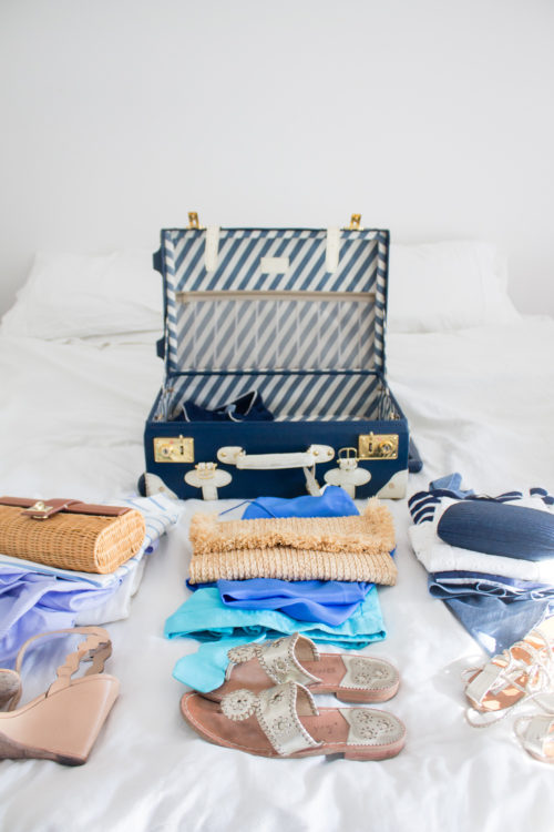 design darling navy suitcase