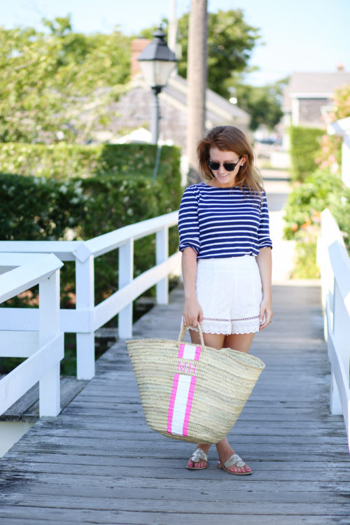 lindroth designs monogrammed beach bag