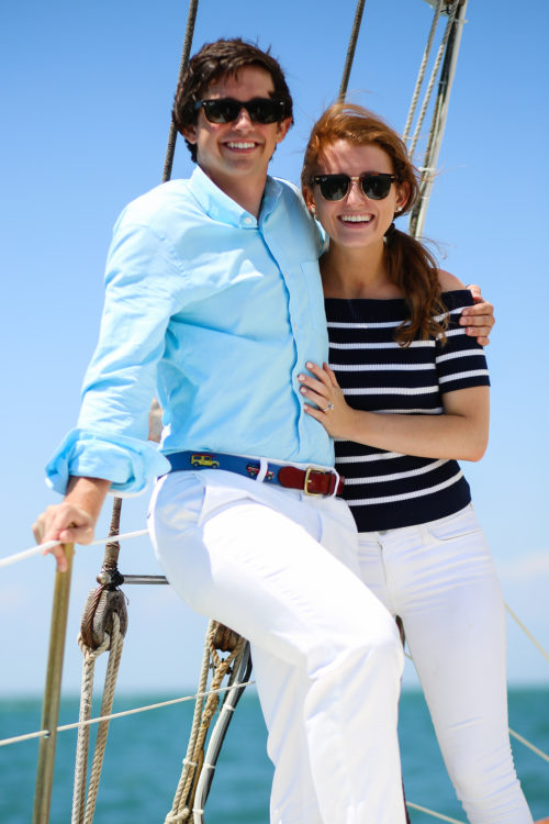 mackenzie horan and will beuttenmuller sailing on nantucket