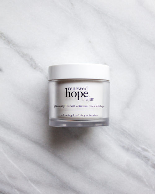 philosophy renewed hope in a jar moisturizer review