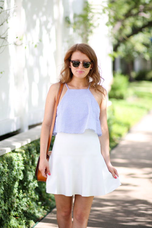 ray-ban clubmasters and minkpink french twist tiered cami
