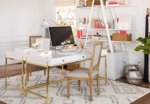 White And Gold Desk Bunk Bed With Desk And Couch