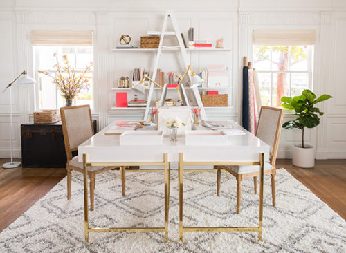 sugar paper for target white and gold lacquer desk
