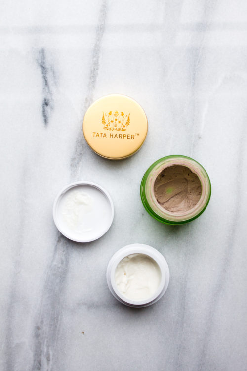 tata harper purifying mask and goop exfoliating instant facial review