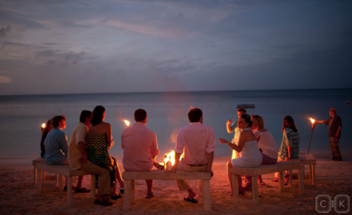 beach campfire shot by cameron & kelly studio