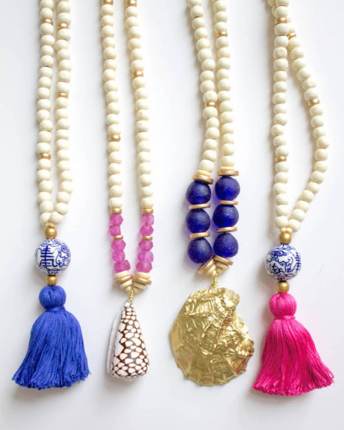 beaded_tassel_seashell_necklaces