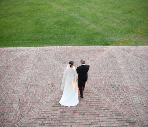father and daughter wedding photo by cameron & kelly studio