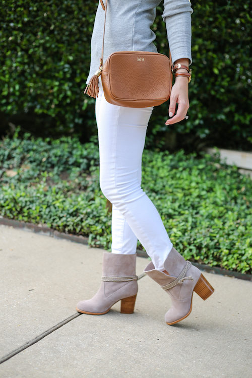 gigi new york monogrammed cross body bag and splendid larchmonte boots on design darling