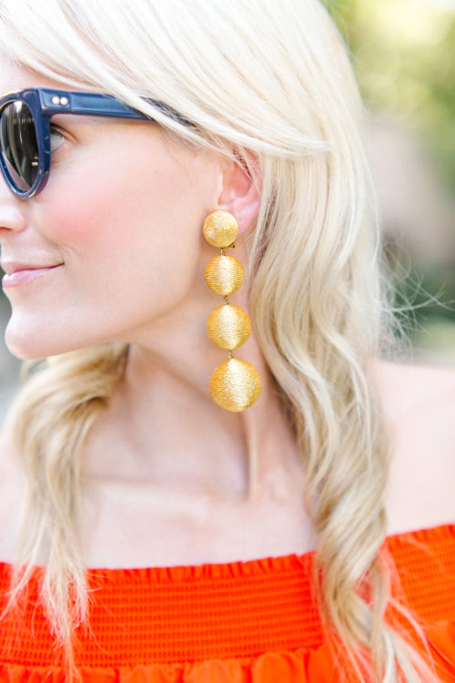 luella & june gold les bonbons earrings by rebecca de ravenel