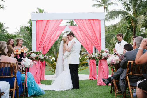 lyford cay outdoor wedding by cameron & kelly studio