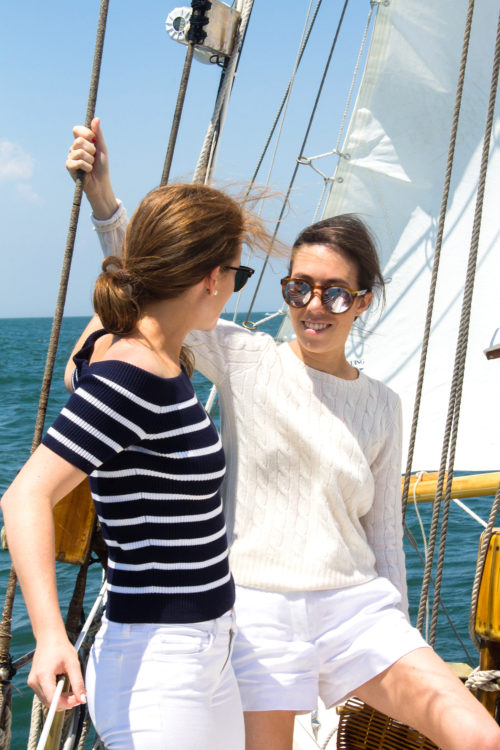 mackenzie horan and amy stone sailing on nantucket