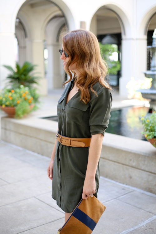 army-green-silk-shirtdress-by-equipment-on-design-darling