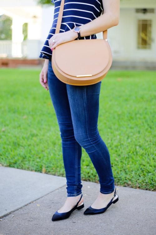 cuyana-saddle-bag-and-j-crew-satin-ballet-flats-on-design-darling
