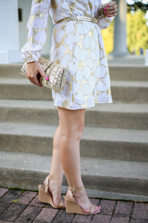 gold-and-white-floral-dress-on-design-darling