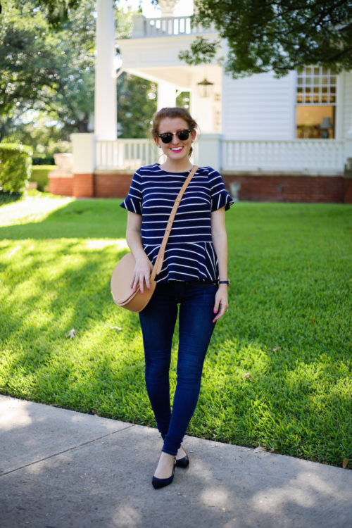 jcrew-striped-peplum-top-with-cuyana-crossbody-bag
