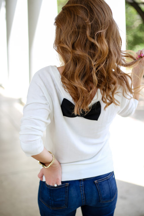 kate spade bow sweater on design darling