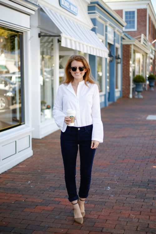 loft-bell-sleeve-shirt-and-navy-corduroy-pants-on-design-darling-2