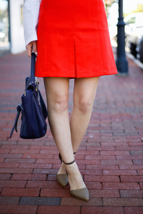 loft-front-pleat-skirt-in-red