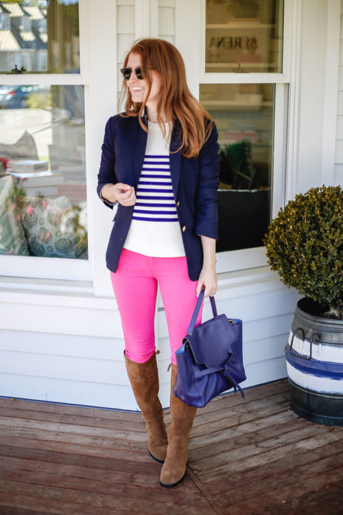 navy-blazer-striped-sweater-hot-pink-jeans-and-riding-boots-on-design-darling