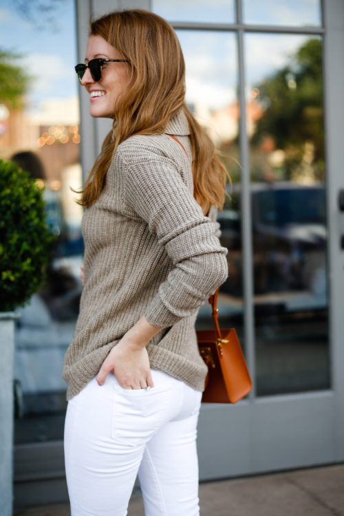 tan-sweater-and-white-jeans