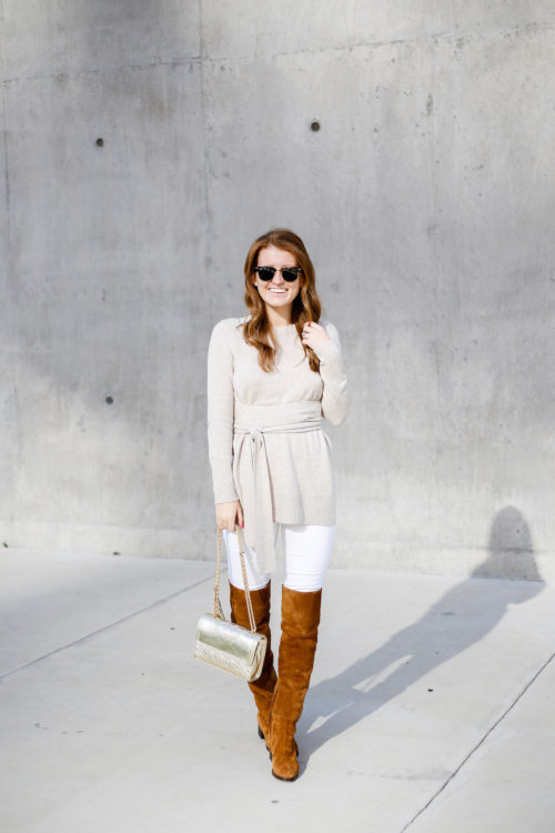 club-monaco-shoshanya-wrap-sweater-and-j-crew-suede-over-the-knee-boots