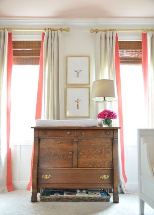 curtains-with-coral-trim