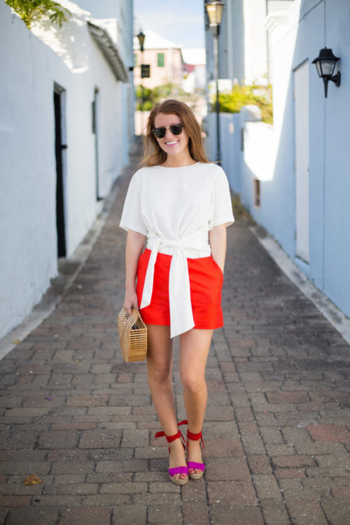 club-monaco-telaim-bow-top-draper-james-bristol-shorts-and-loeffler-randall-harper-espadrilles-on-design-darling