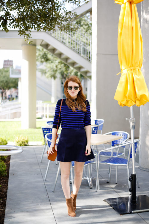 navy-and-cobalt-striped-sweater-navy-suede-skirt-and-brown-suede-booties