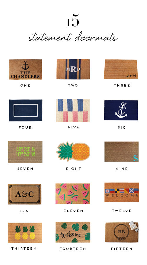 15 statement doormats for your front door