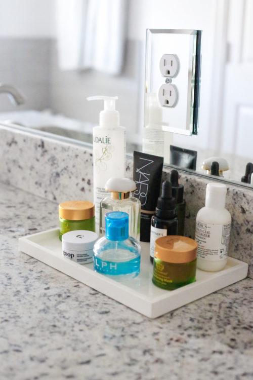 design darling home tour bathroom display