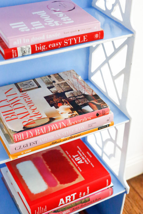 design-darling-home-tour-dallas-pink-and-red-books