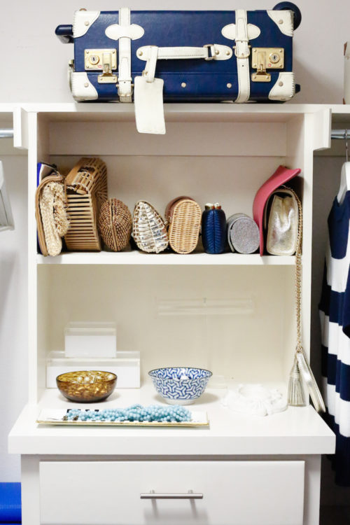 design darling home tour how to store bags and clutches