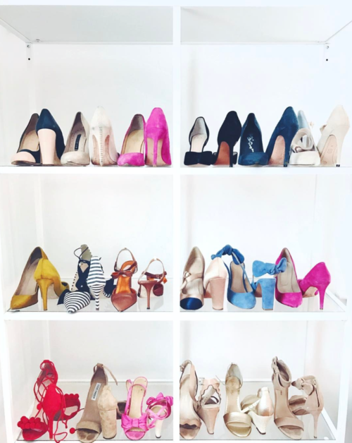 design darling shoe closet with ikea vittsjo shelves