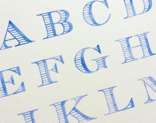 watercolor letters for wedding crest by kearsley lloyd