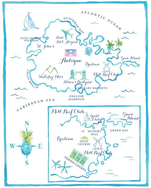watercolor wedding map by kearsley lloyd