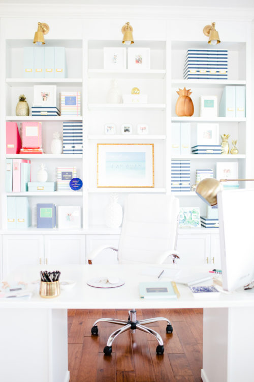 emily ley home office style me pretty