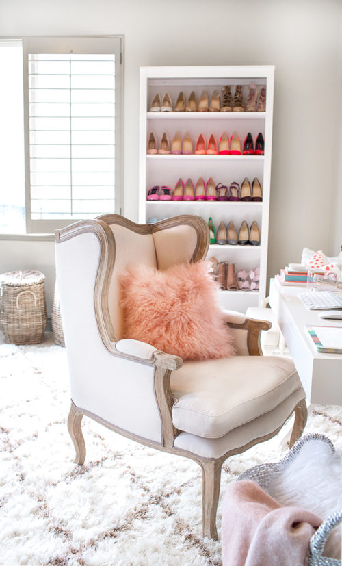 hello fashion blog home office shoe shelves