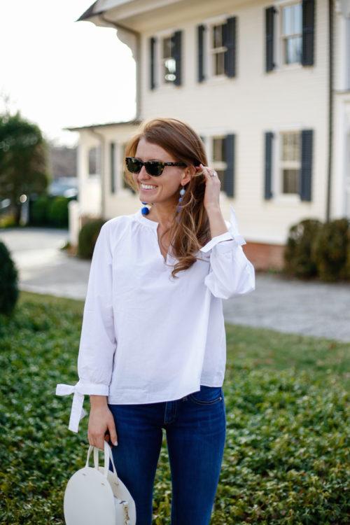 madewell tie sleeve blouse on design darling