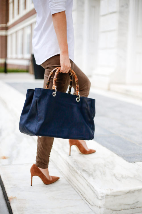 mark and graham bamboo bag and manolo blahnik bb pumps on design darling