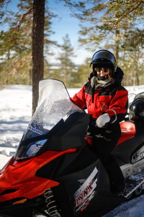 design darling finland itinerary with snowmobiling
